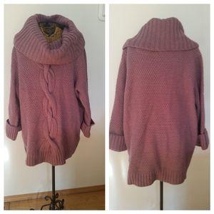 TALBOTS purple cowl neck sweater 1X